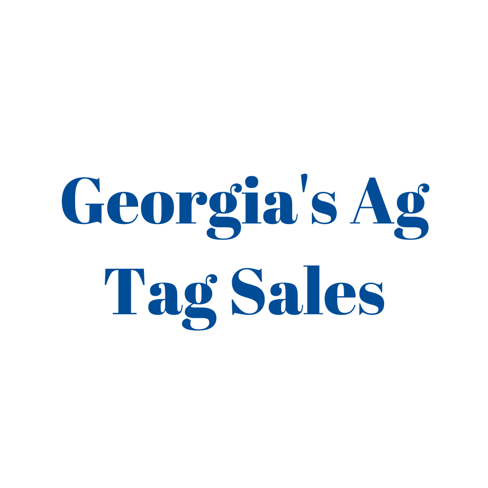 Georgia's Ag Tag Sales